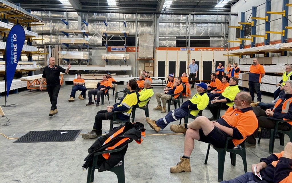 HALT Talk at Mitre 10 in South Geelong