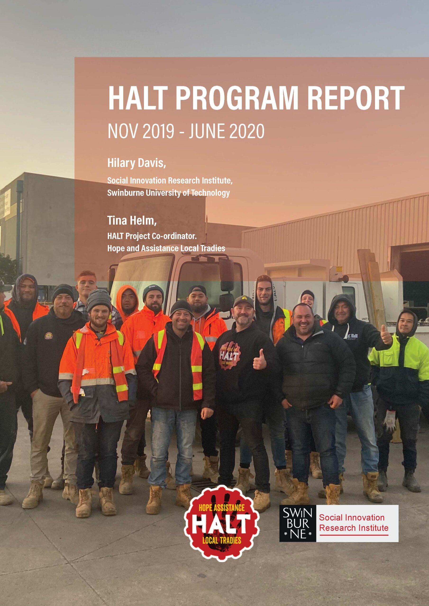 HALT Program Report November 2019 – June 2020